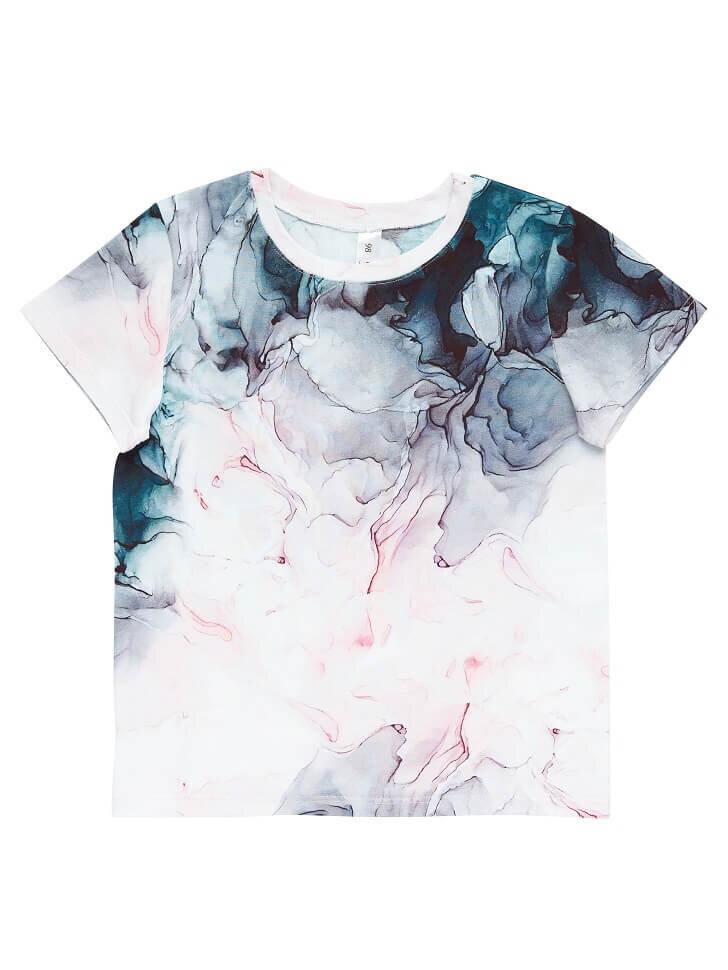Трикотажная футболка с переливами