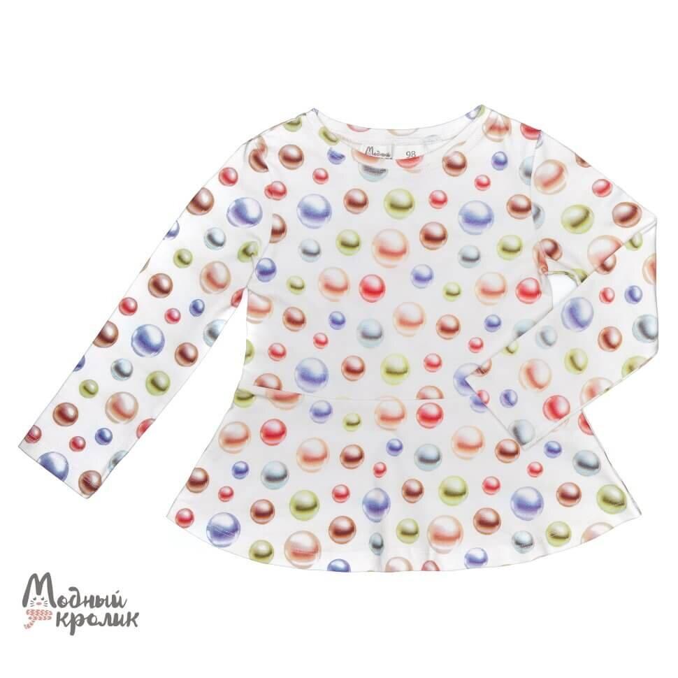 Блузка белая с жемчужинами