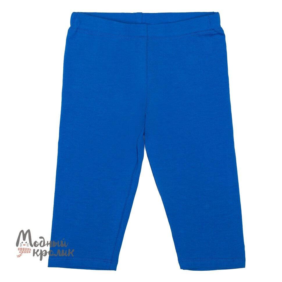 Голубые трикотажные легинсы