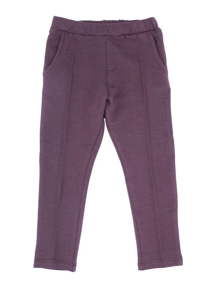 Фиолетовые трикотажные брюки со стрелками