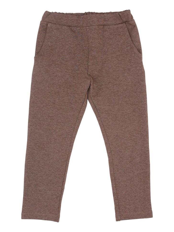 Коричневые трикотажные брюки с карманами