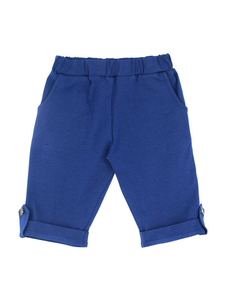 Синие трикотажные шорты с карманами