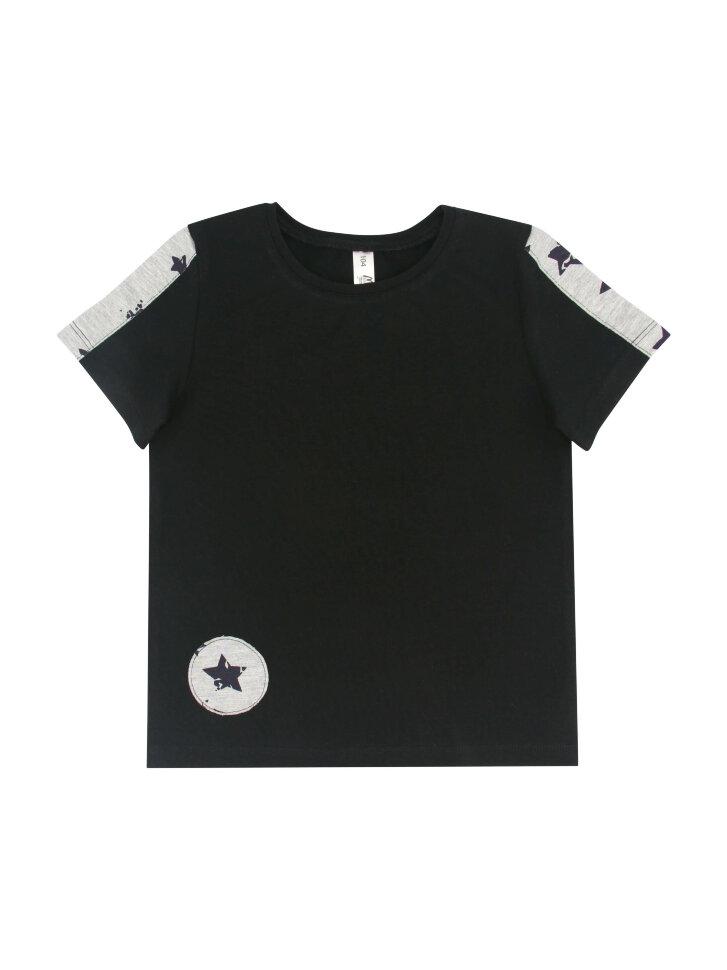 Черная трикотажная футболка со вставками