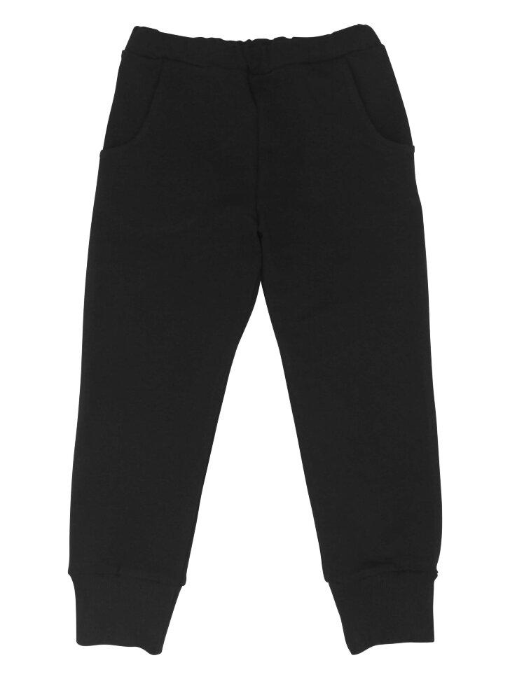 Черные трикотажные брюки на резинке