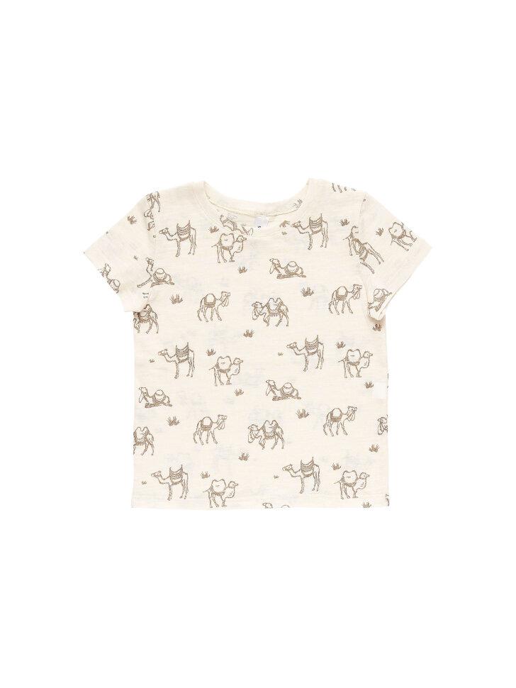 Тонкая трикотажная футболка с верблюдами
