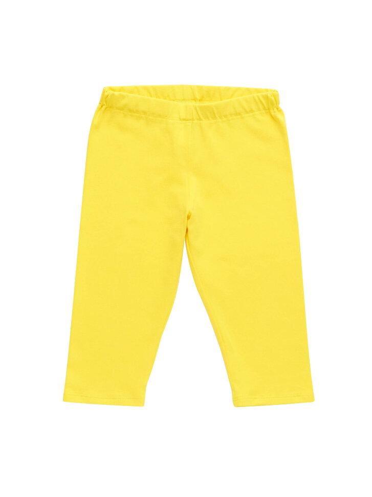 Желтые трикотажные бриджи
